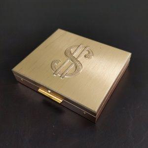 Vtg 50s Dollar Sign Metal Coin Purse Money Clip